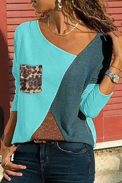Leopard Print Block Top