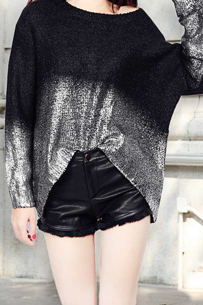 long-sleeve-crew-neck-color-fade-gradient-sparkly-knitted-sweater