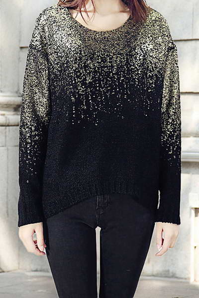 Gradient Sparkle Sweater