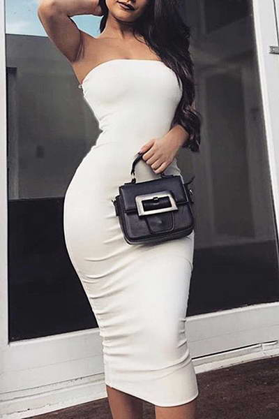 sleeveless-strapless-calf-length-plain-bodycon-midi-tube-dress