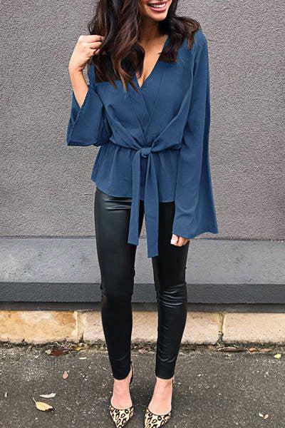 Cross Over Knot Blouse