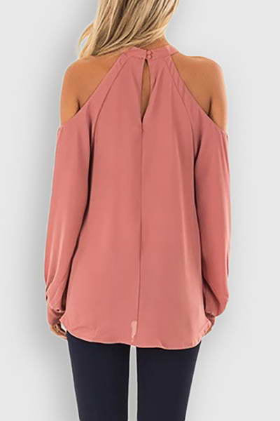 Cold Shoulder Choker Top