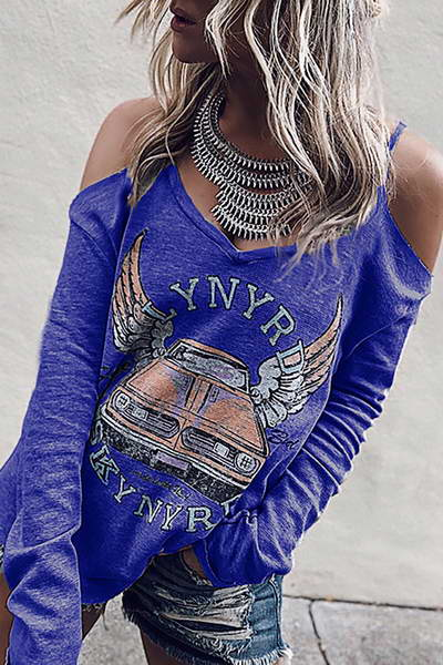 Cold Shoulder Band Tee