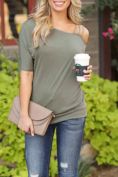 One Shoulder T-Shirt