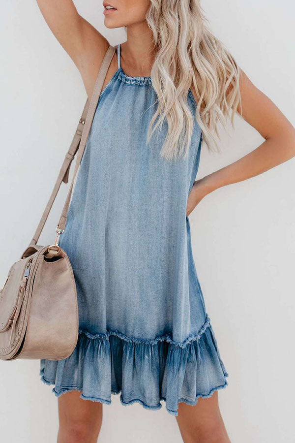 Fashion Sling Sexy Denim Dress