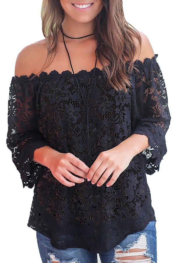 Lace Off Shoulder Sexy Top