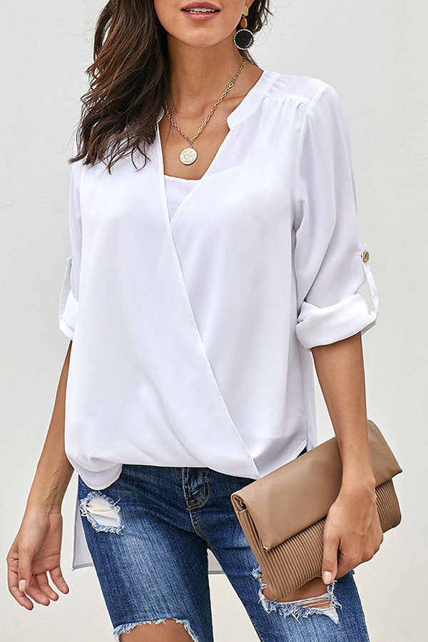 Solid Color Cross Top