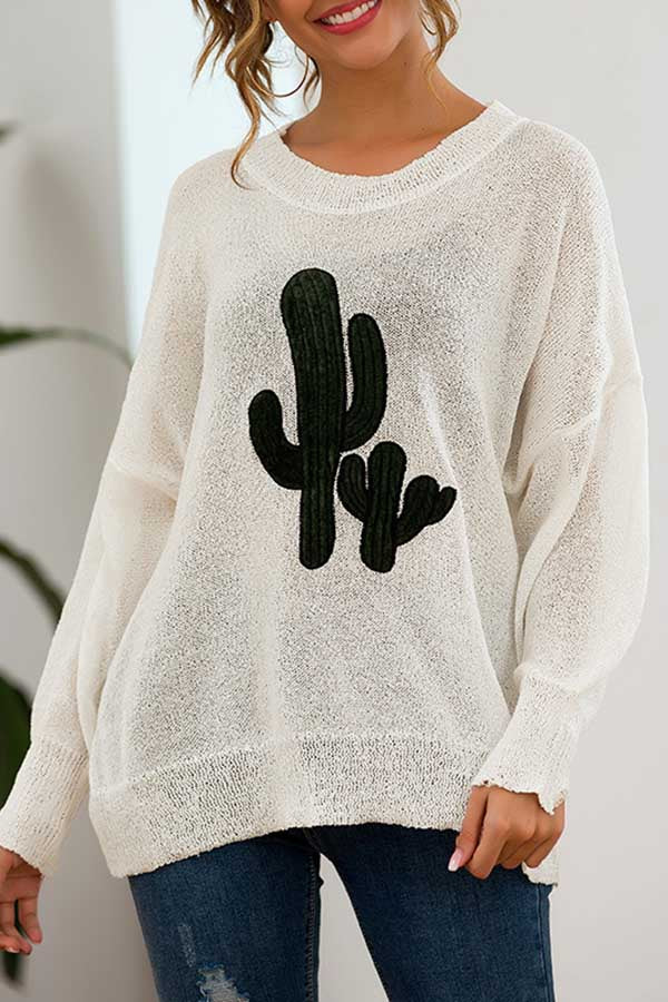 Printed Knitted Sweater