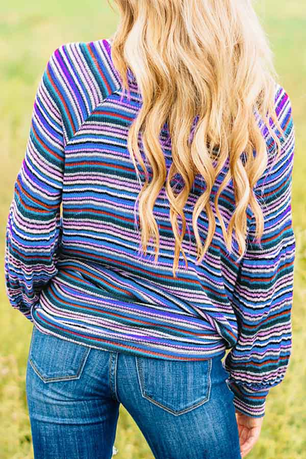 Stripey Long Sleeve Top