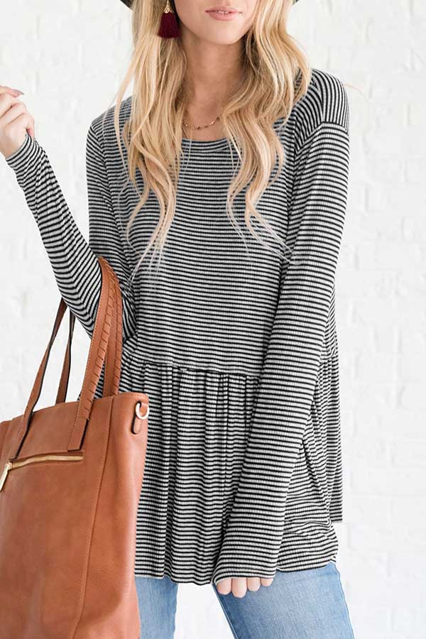 Stripe Drop Waist Top