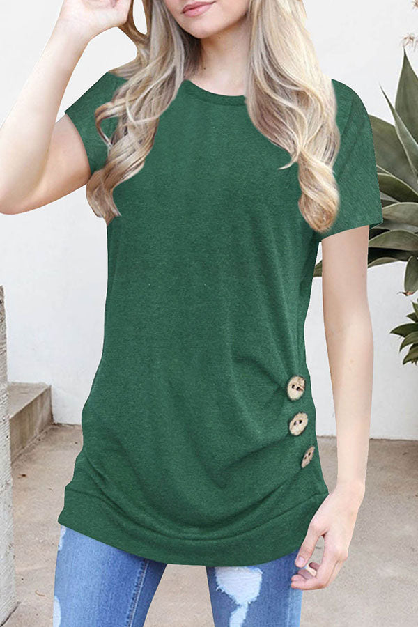 Casual Solid Color Loose T-shirt