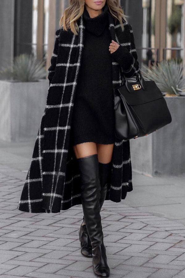 Checkered Print Sanding Coat