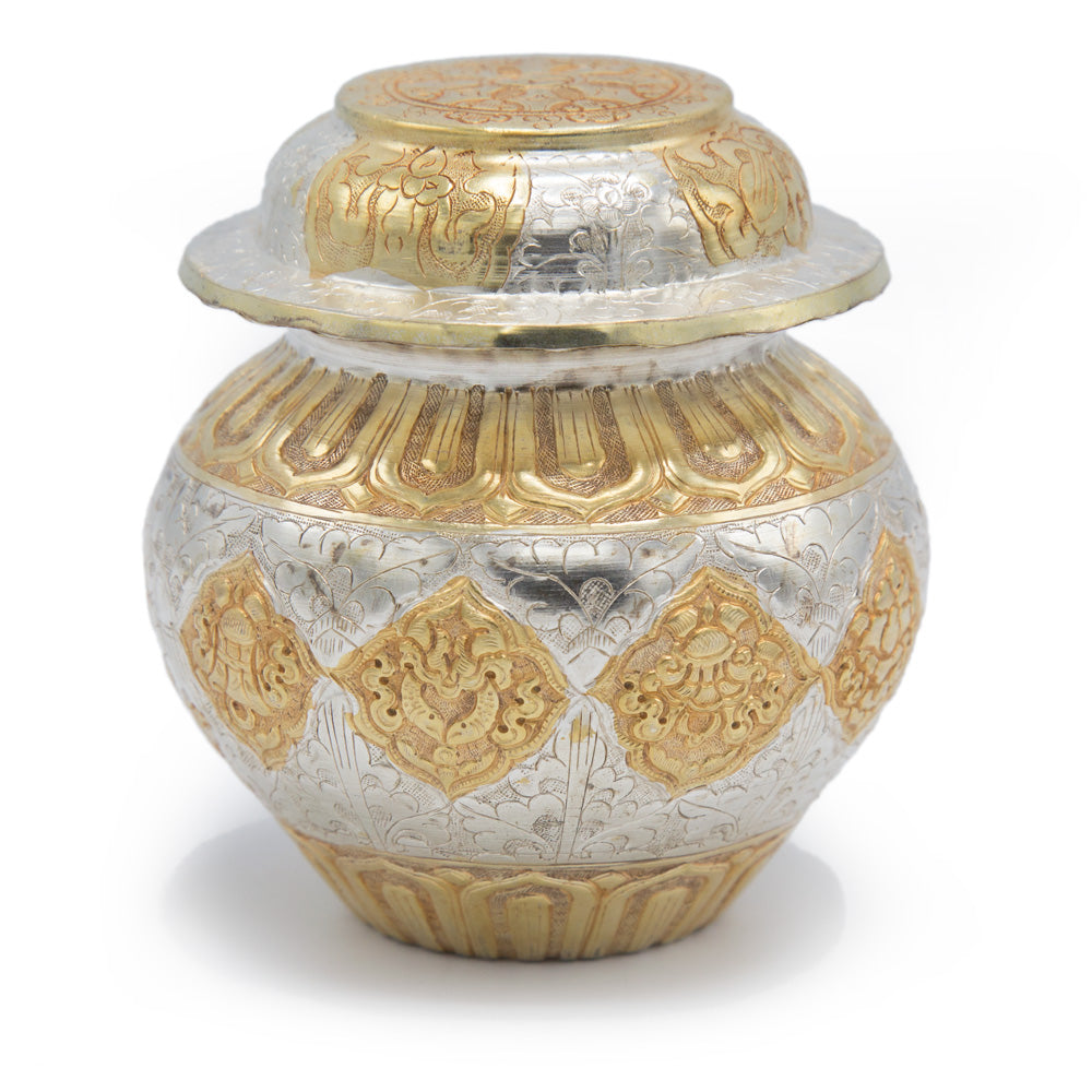 Silver and Gold Treasure Vase - 4.75 inch