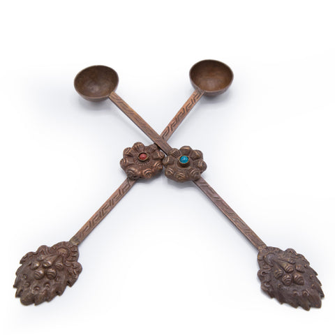 Antiqued Copper Ritual Spoons - Medium