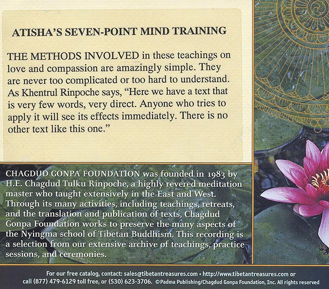 Atisha's Seven Point Mind Training - Download