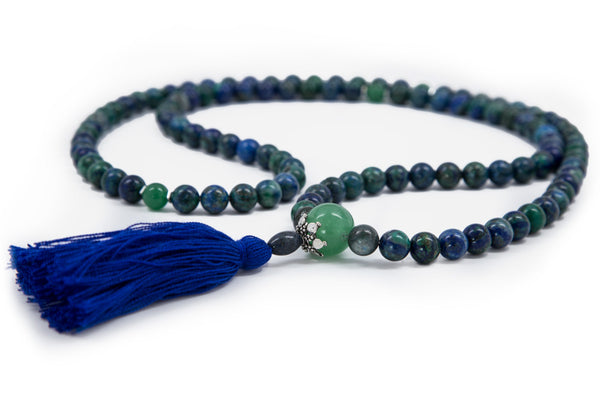 Azurite-Malachite Mala - 8mm