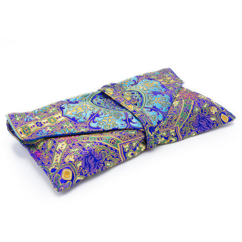 Indian Silk Brocade Text Envelope - Purple