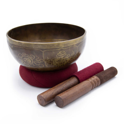 Bronze Mani Singing Bowl - 7.5""
