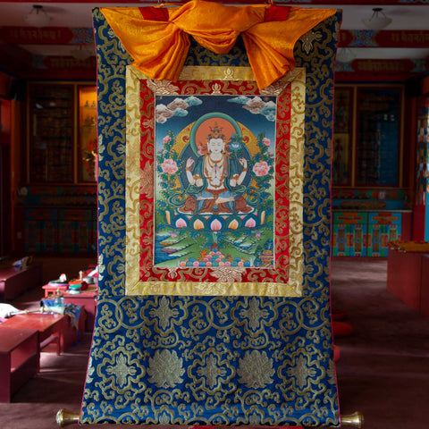 Chenrezig Thangka - Small 1