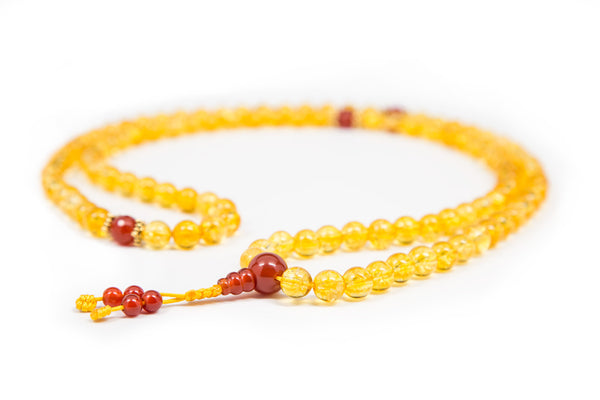 Citrine and Carnelian Mala - 8mm