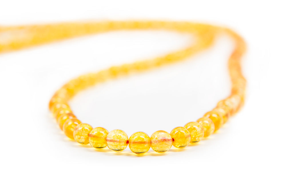 Citrine and Quartz Mala - 6mm