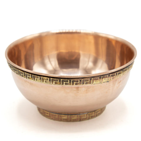 Copper and Brass Offering Bowls - Set of Seven