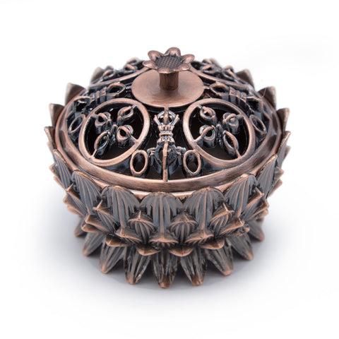 Copper Colored Lotus Incense Burner