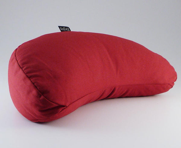 Red Crescent Moon Puja Cushion