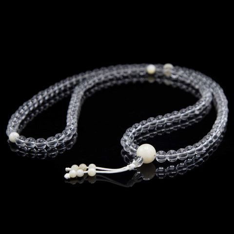 Crystal with Mother of Pearl Mala - 8mm