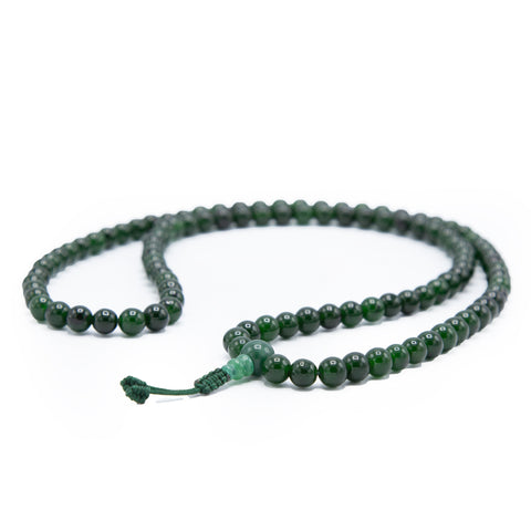 Dark Jade Mala - 8mm