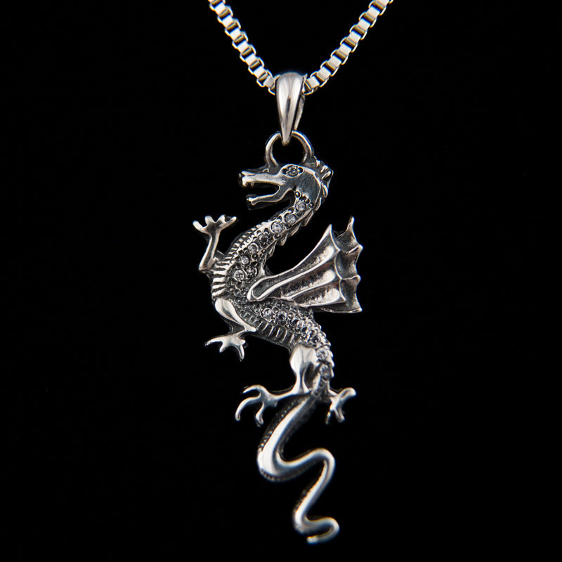 Dragon with CZ Pendant