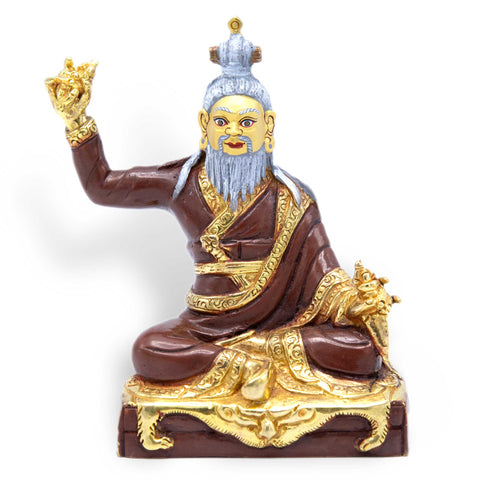 Dudjom Lingpa - Partially Gilded - 4""