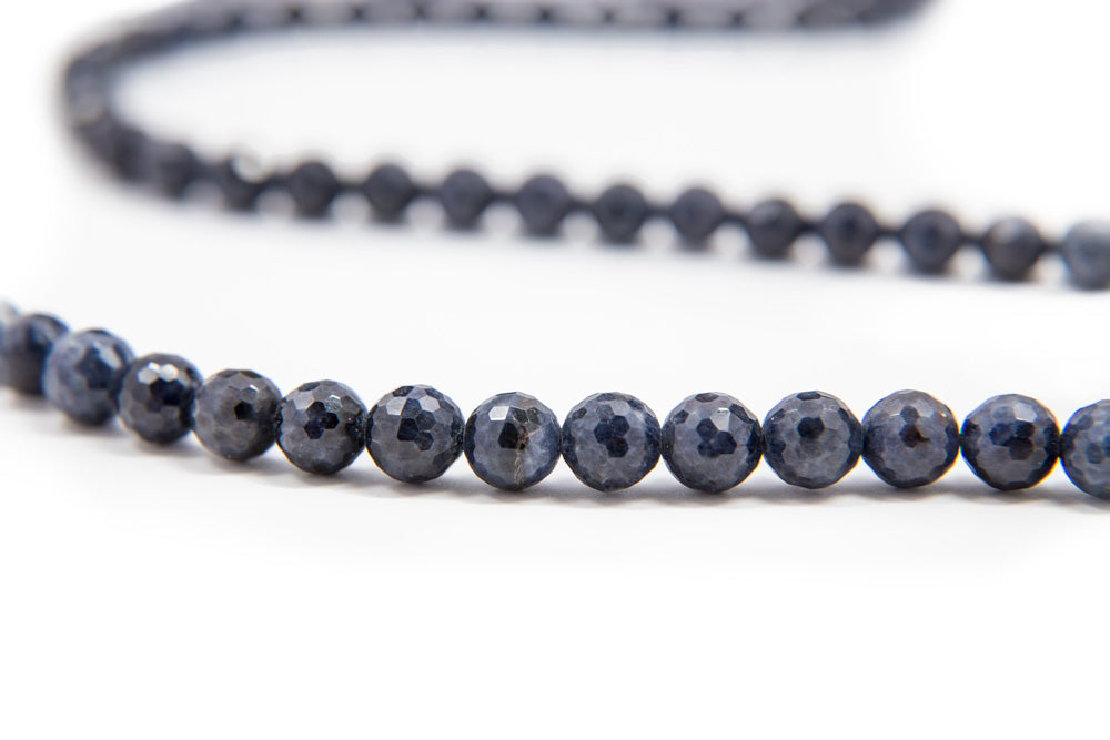 Faceted Sapphire Mala - 6mm