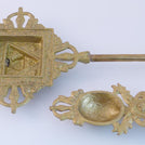 Brass Fire Puja Tongs
