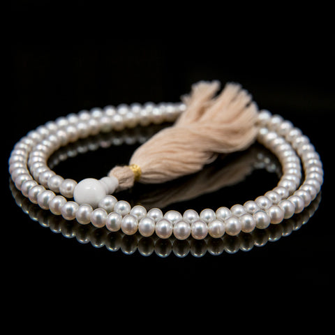 Freshwater Cultured Pearl Mala 6mm