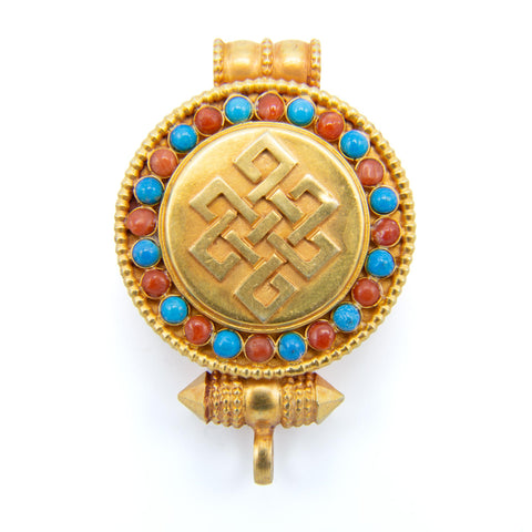 Gold-Plated Endless Knot Gau