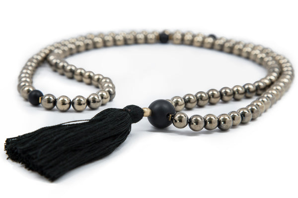 Golden Hematite Mala - 8mm