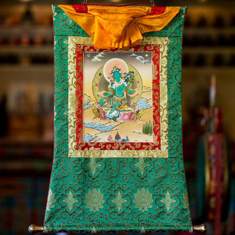 Green Tara Thangka - Small