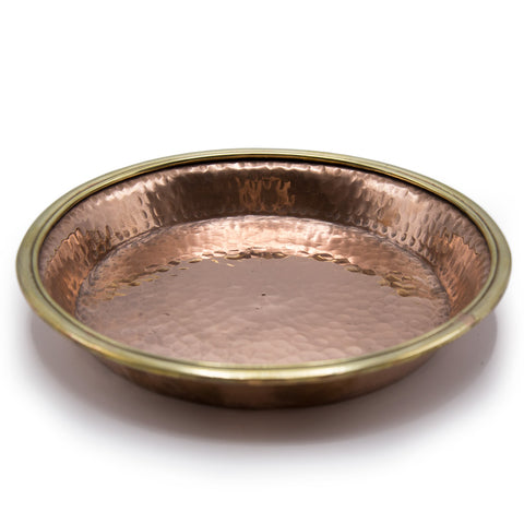 Hammered Copper Shrine Plate - 7 inch