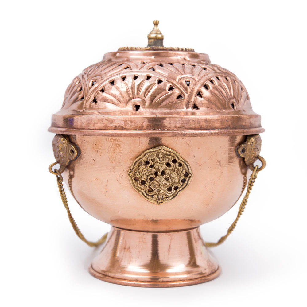 Copper Hanging Incense Burner - 5.5 inch