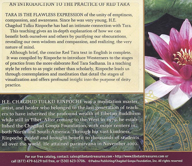 Intro to Practice of Red Tara CD