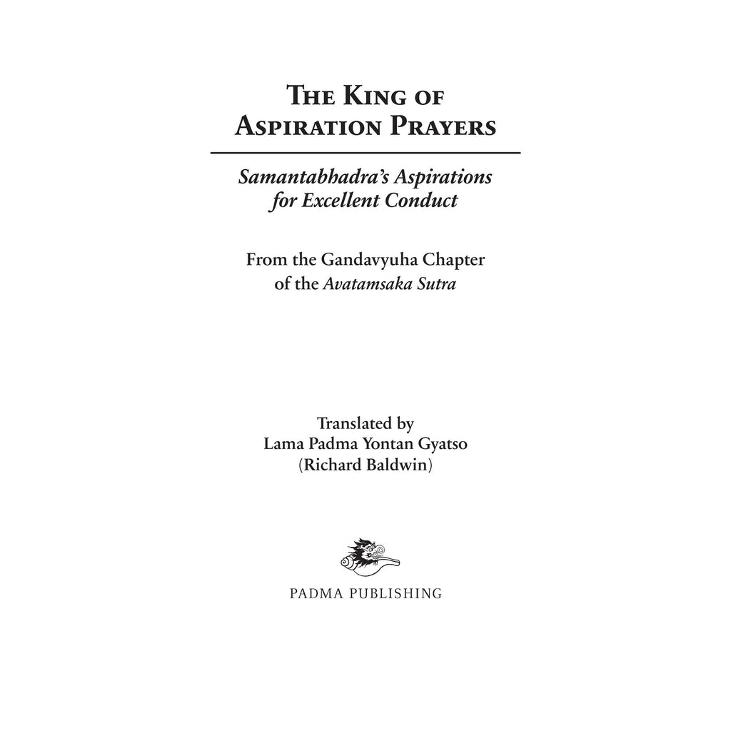 King of Aspiration Prayers - Booklet