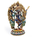 Lion Faced Dakini Painted Statue - 14 inch
