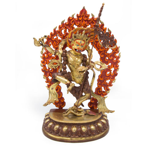 Lion Faced Dakini Statue - 14 inch