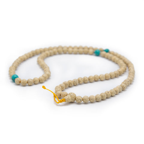 Lotus Seed and Turquoise Mala 5mm