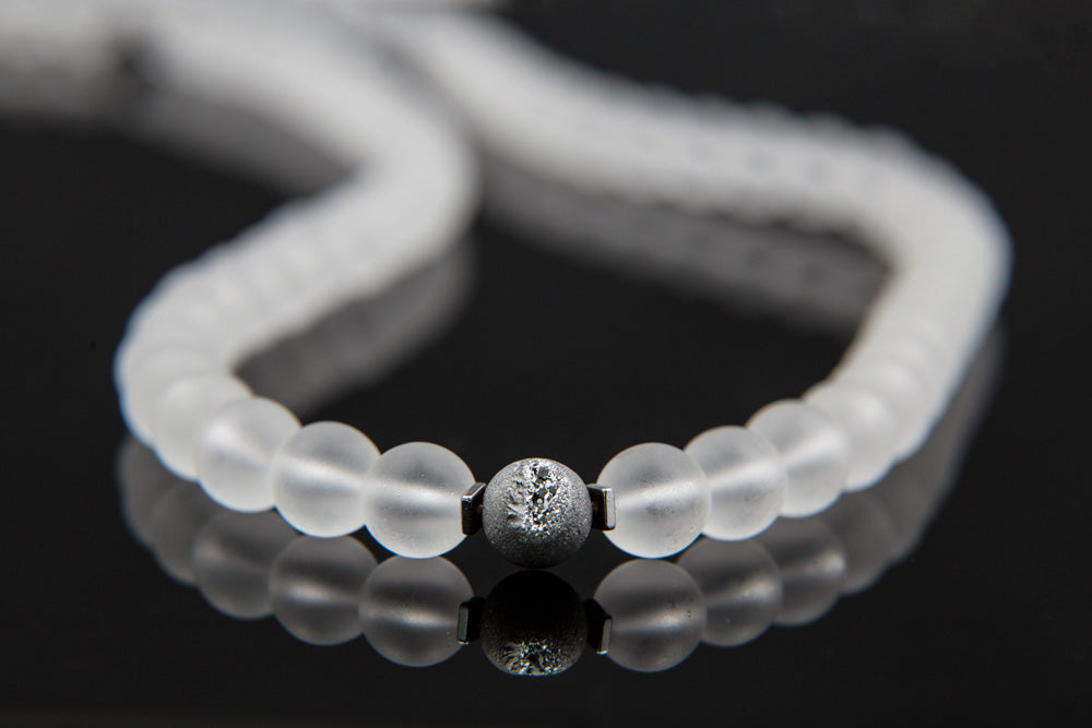 Matte Crystal Quartz Mala - 8mm