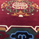 Burgundy Circle Meditation Carpet