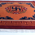 Orange Sun Meditation Carpet