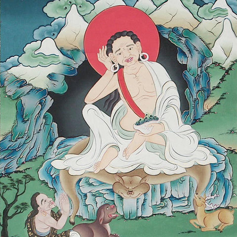 Milarepa Thangka - Medium