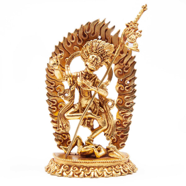 Lion-faced Dakini Gold Statue - Mini